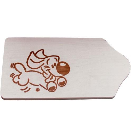 Frühstücksbrettchen Holz mit Gravur - Motiv Hund - zum Selbstgestalten & Bemalen