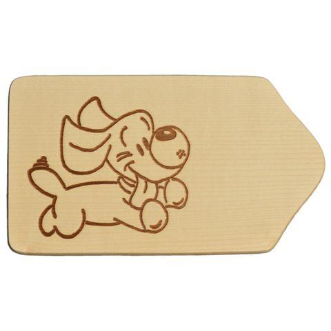 Frühstücksbrettchen Holz mit Gravur - Motiv Hund - zum Selbstgestalten & Bemalen – Bild 1