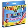 12er Set Fasermaler dick - Filzstifte auswaschbar Carioca Maxi Superwashable 001