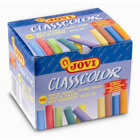 Kreide bunt - Tafelkreide rund, farbig sortiert - 100 Stück Schulkreide 10 Farben – Bild 1