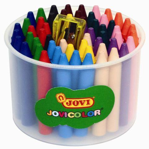 60 Wachsmalstifte Ø 12mm - 12 Farben - dicke Wachsmaler für Kinder, auswaschbar