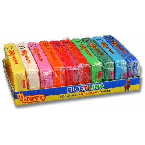 Bunte Knete 1,5kg - Set 10 Farben Kinder Knetmasse Jovi Plastilina je 150gr