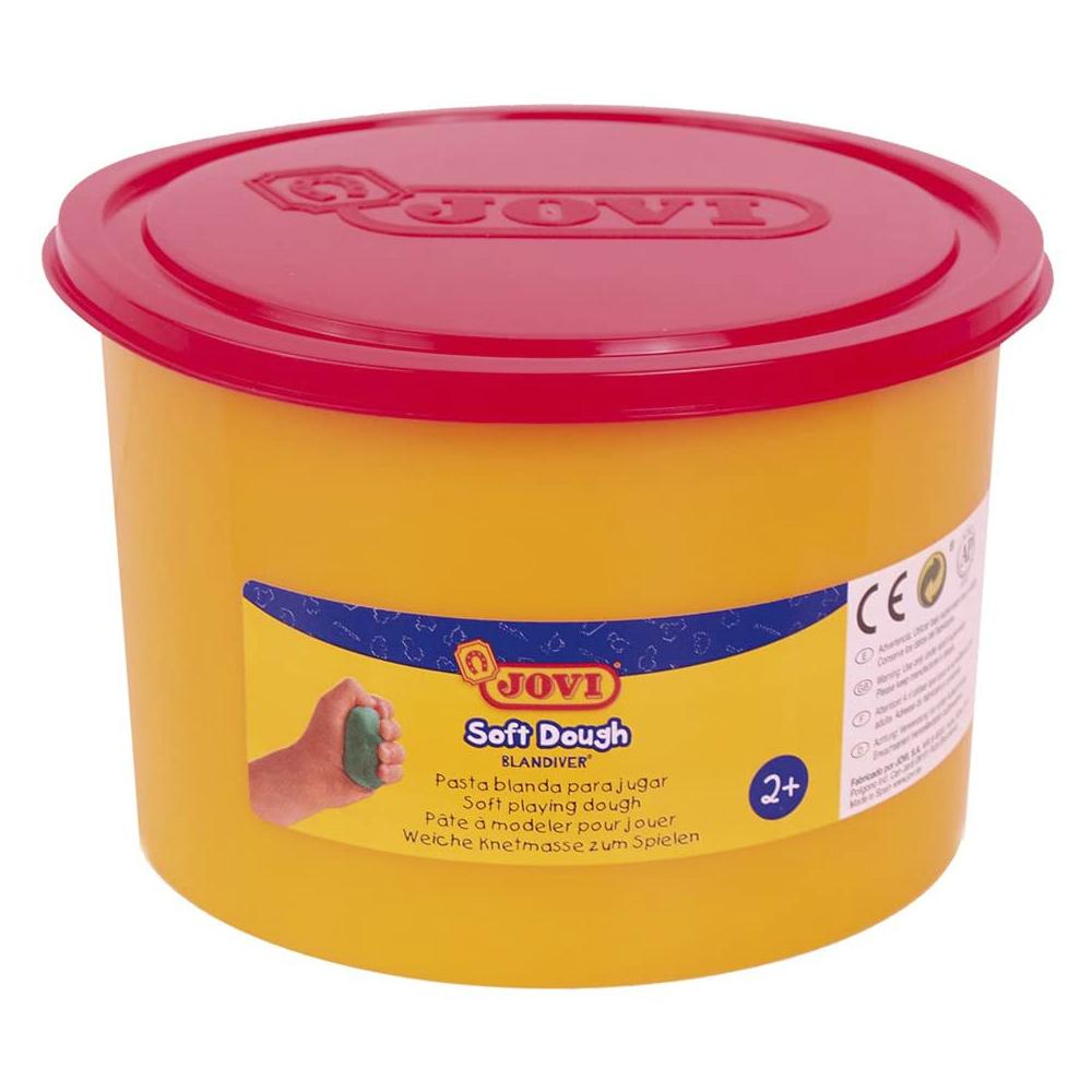 Kinder Soft Knete rot 460gr (500ml) - JOVI Blandiver weiche Knete