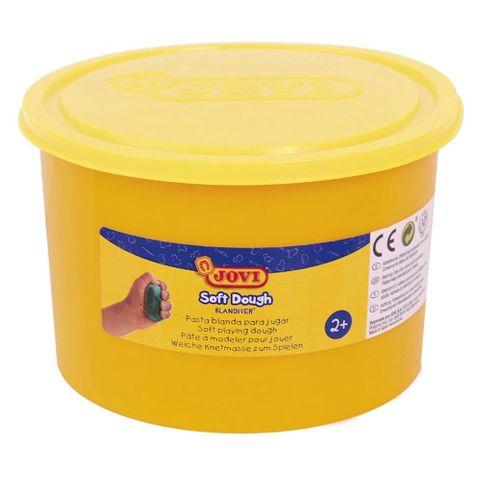 Kinder Soft Knete gelb 460gr (500ml) - JOVI Blandiver weiche Knete