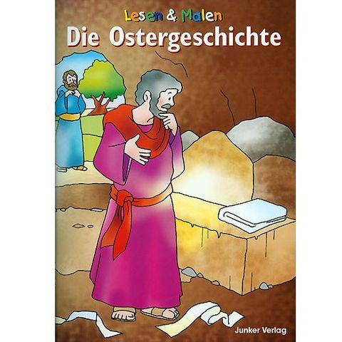 Die Ostergeschichte, Bernhard Burg - christliches Ausmalbuch & Vorlesebuch - 20 Seiten, A5