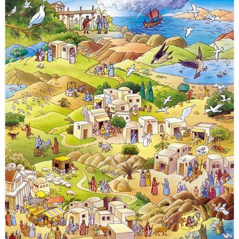 Großer Adventskalender zum Vorlesen und Basteln 88x92cm - Die Botschaft der Taube - Vorleseadventskalender mit Begleitbuch