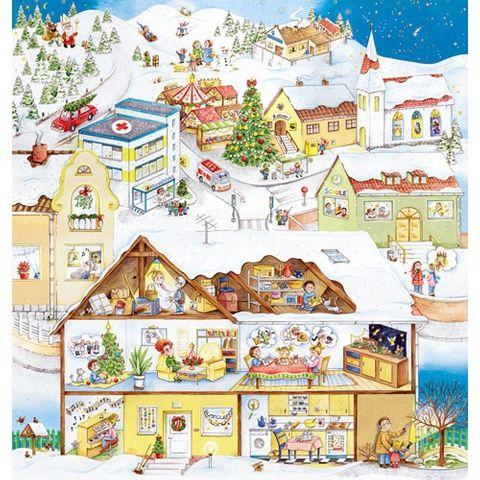 Großer Adventskalender zum Vorlesen und Basteln 88x92cm - Wir feiern Advent - Vorleseadventskalender mit Begleitbuch