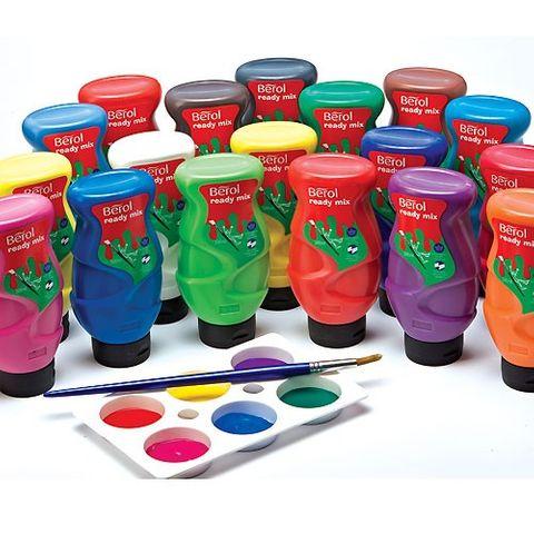 Schulmalfarbe BEROL Ready Mix dunkelgrün, 500 ml