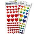 Folia Deko Holo-Sticker, 2 Blatt Herzen - Folia 17101 001