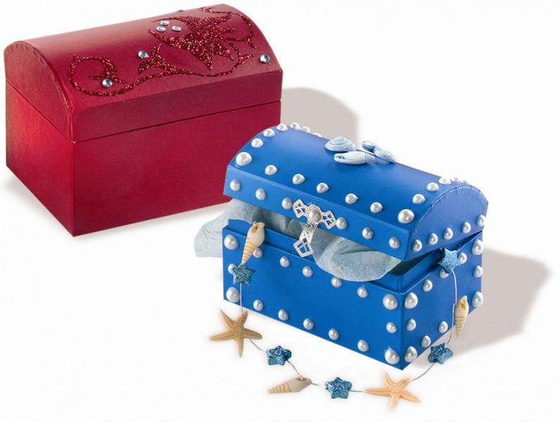 emballage cadeau bo te cadeau coffre au tr sor en carton color set de 6 bo tes d corer. Black Bedroom Furniture Sets. Home Design Ideas