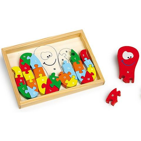 Puzzle Tintenfisch ABC