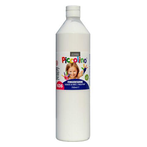 Piccolino Fingerfarbe Weiß, 750 ml Flasche – Bild 1