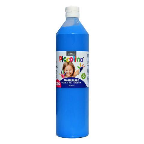 Piccolino Fingerfarbe Blau, 750 ml Flasche – Bild 1