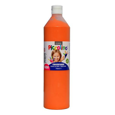 Piccolino Fingerfarbe Orange, 750 ml Flasche – Bild 1