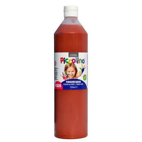 Piccolino Fingerfarbe Braun, 750 ml Flasche – Bild 1