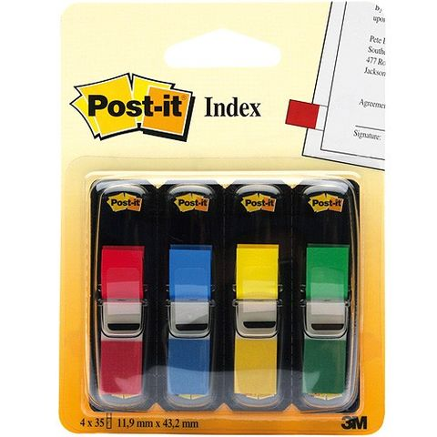 3M Post-it Index Mini 683-4, 11,9 x 43,2 mm, 4 Spender à 35 Stück