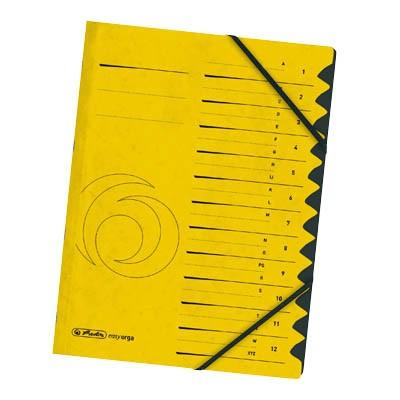 Herlitz Ordnungsmappe A4, 12-teilig, gelb