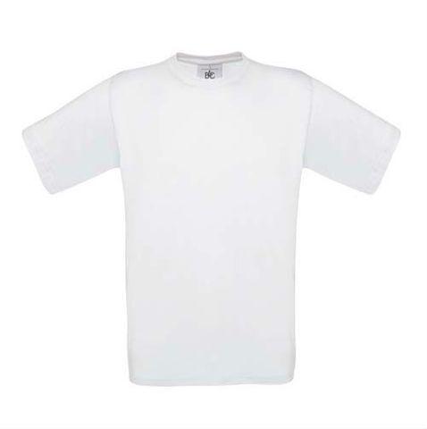 Kinder T-Shirt B&C exact 150 Kids, weiß, 98/104 cm