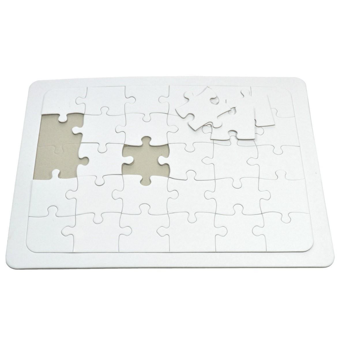 Blanko Puzzle A4 mit Rahmen zum selber bemalen, 30 große Teile