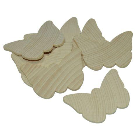 Holzschmetterlinge 10 Stück - Schmetterlinge aus Holz zum Bemalen 4,5x5,8cm – Bild 1