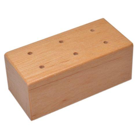 Prickelnadelständer - Holz-Klotz für 6 Prickelnadeln / Filznadeln, 7x3,5xH3cm – Bild 1