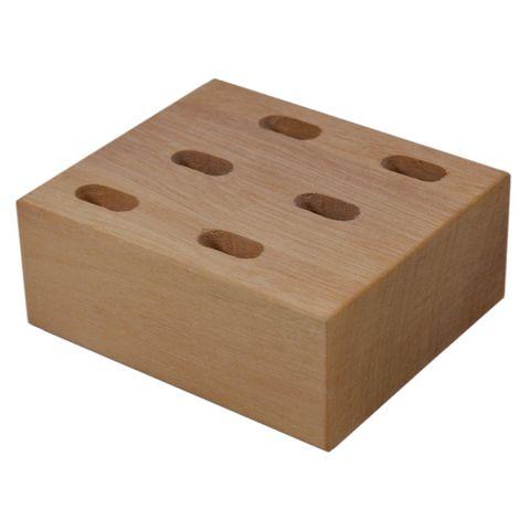 Scherenständer Holz - Pinselhalter Scherenblock Scherenhalter für 6 Scheren – Bild 1
