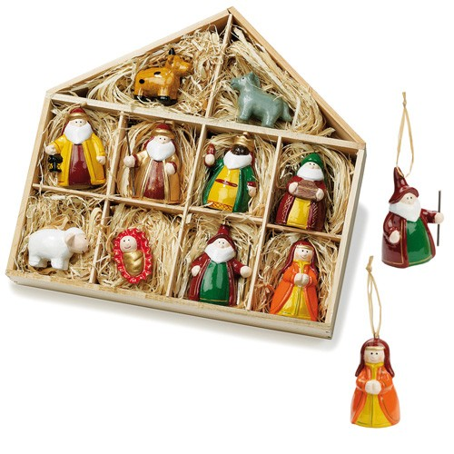 Suspension figurines cr che et santons en c ramique pour - Figurine creche de noel ...