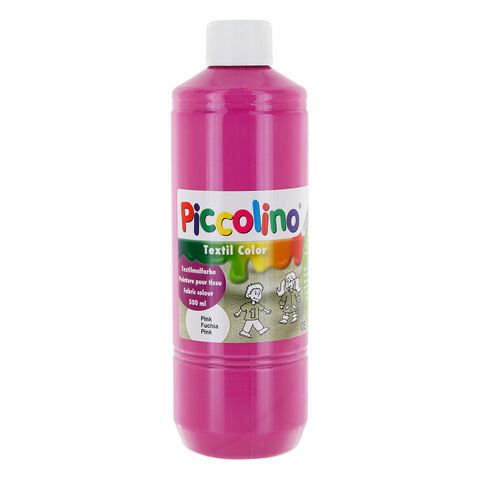 Textilfarbe pink 500ml - Stoffmalfarbe PICCOLINO Textil Color