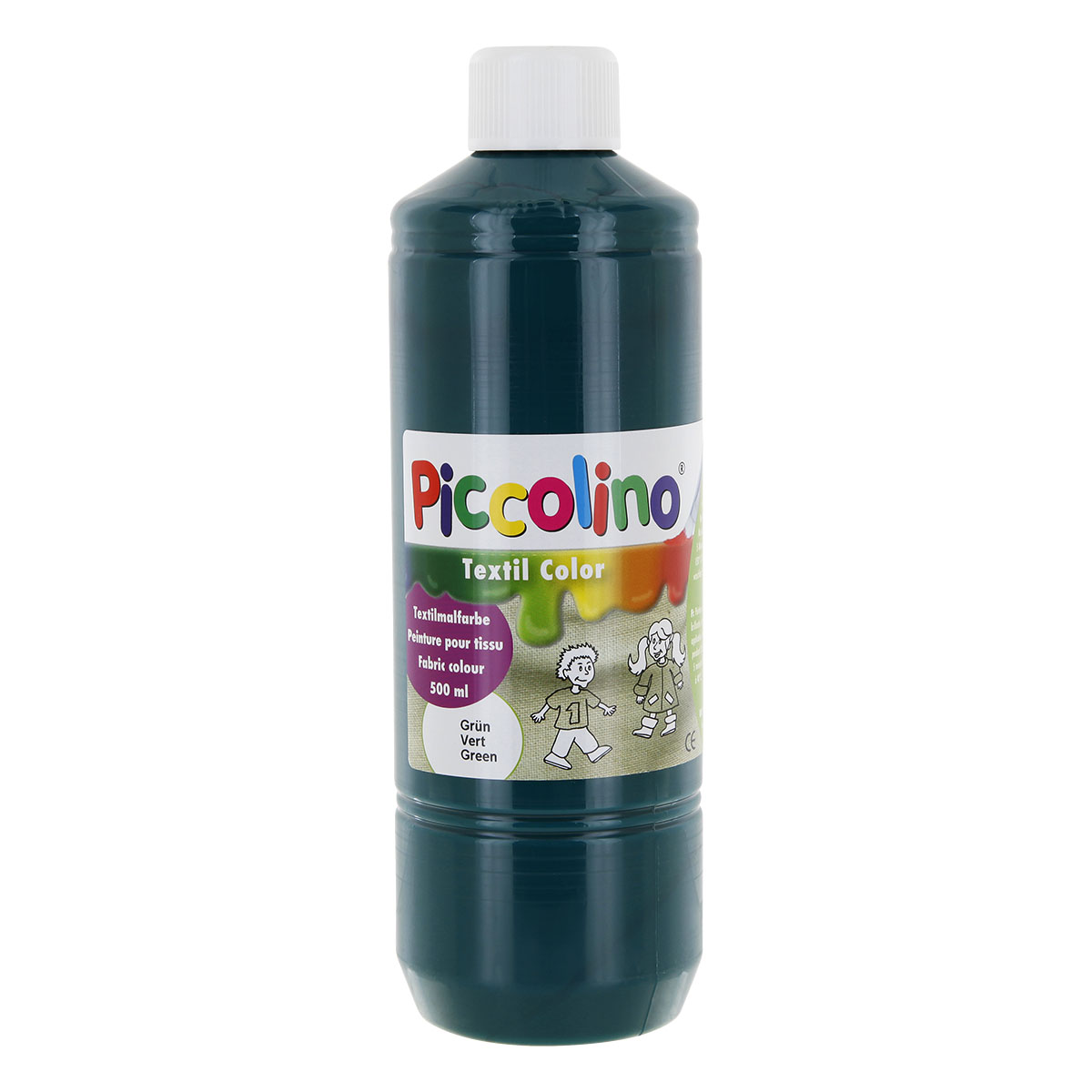 Textilfarbe grün 500ml - Stoffmalfarbe PICCOLINO Textil Color