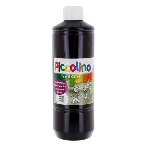 Textilfarbe violett 500ml - Stoffmalfarbe PICCOLINO Textil Color – Bild 1