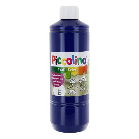 Textilfarbe blau 500ml - Stoffmalfarbe PICCOLINO Textil Color