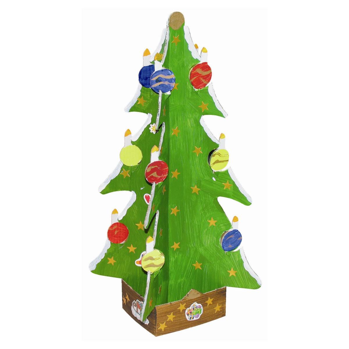 weihnachtsbaum christbaum aus karton pappe blanko zum. Black Bedroom Furniture Sets. Home Design Ideas