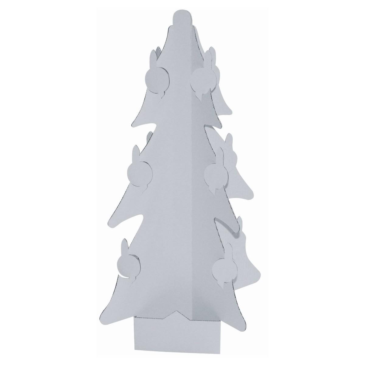 Weihnachtsbaum Christbaum aus Karton / Pappe blanko zum Bemalen, Höhe 37cm