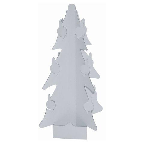 Weihnachtsbaum Christbaum aus Karton / Pappe blanko zum Bemalen, Höhe 37cm – Bild 1