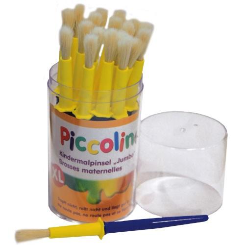 Piccolino Kinder Malpinsel Ø 7mm 20er-Set - dicker Kinderpinsel mit Tropfschutz
