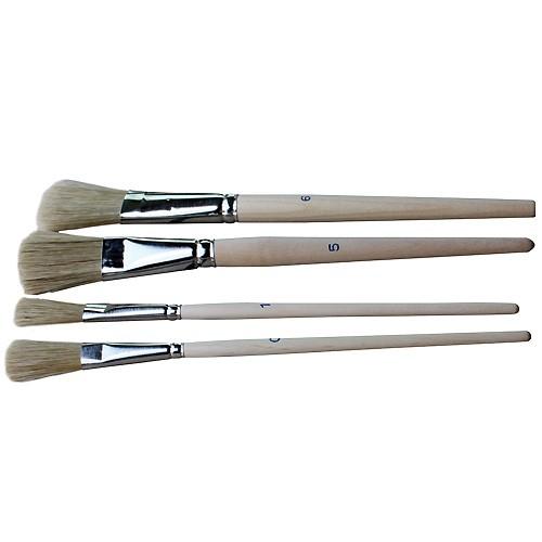 Borstenpinsel Größe 2 - 12er Pack - Piccolino Flachpinsel Universalpinsel