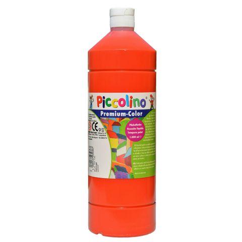 Piccolino Schulmalfarbe 1000ml rot - Premium Color - Gouache Schultempera – Bild 1