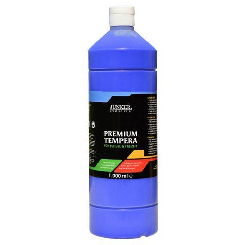 Piccolino Schulmalfarbe 1000ml dunkelblau - Premium Color - Gouache Schultempera – Bild 1