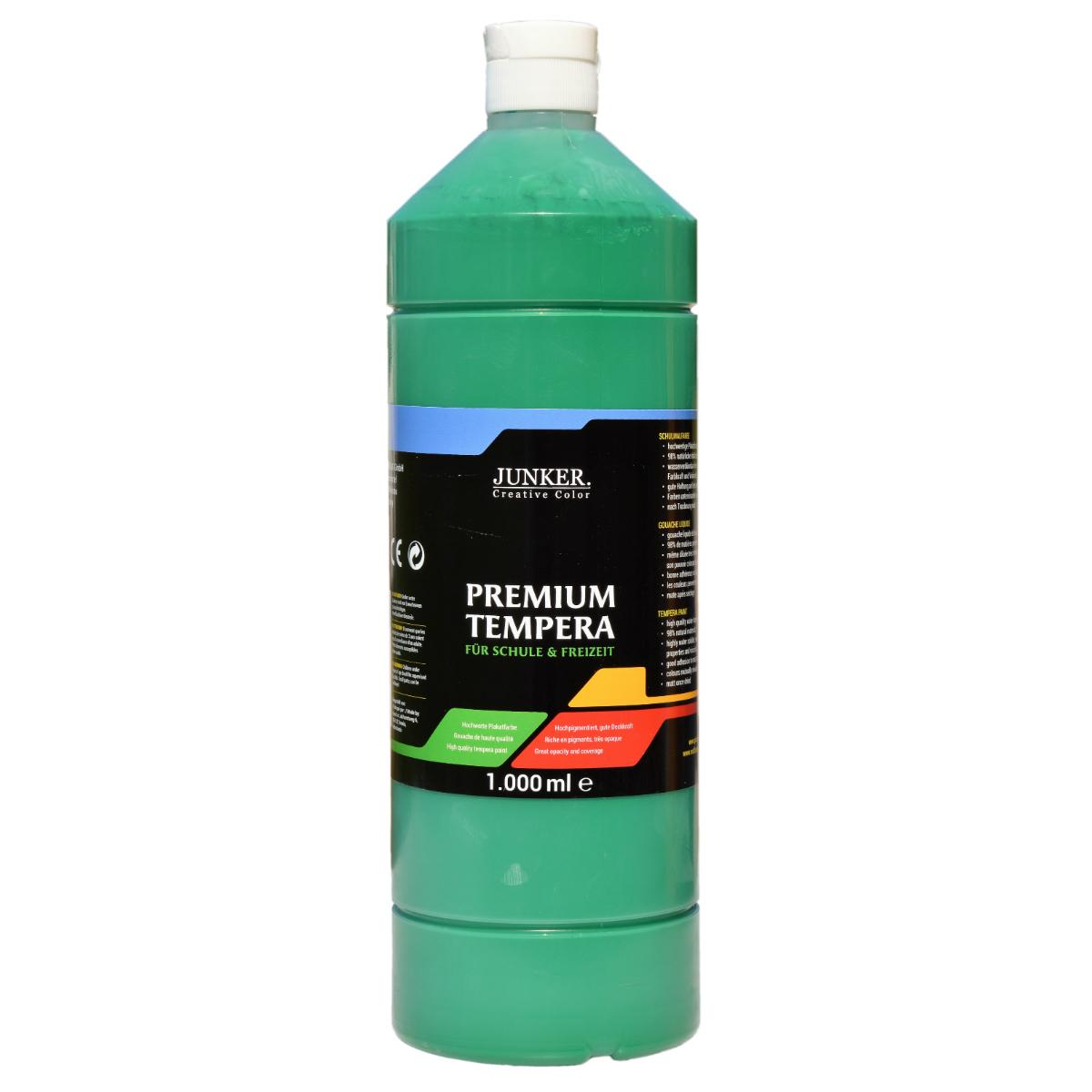 Piccolino Schulmalfarbe 1000ml dunkelgrün - Premium Color - Gouache Schultempera