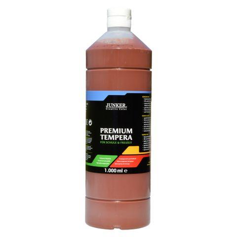 Piccolino Schulmalfarbe 1000ml braun - Premium Color - Gouache Schultempera – Bild 1