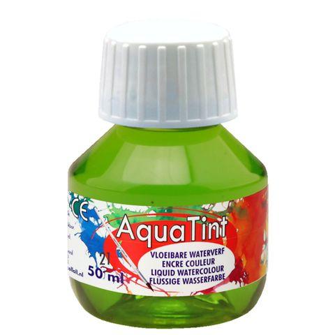 Flüssige Wasserfarbe AquaTint - hellgrün, 50ml Flasche – Bild 1