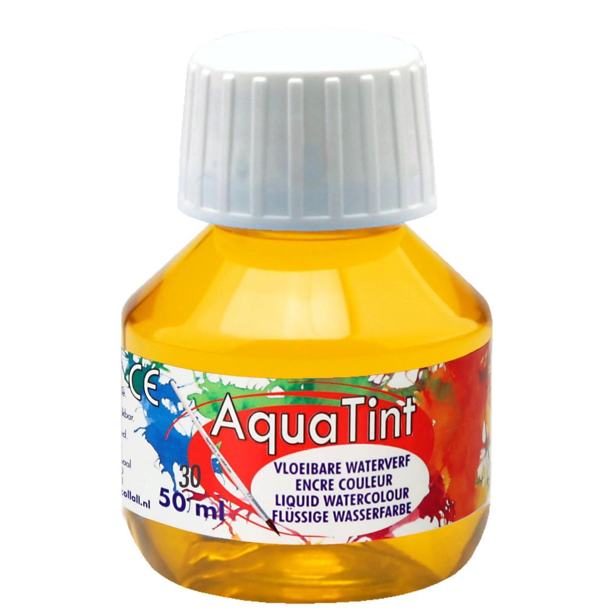 Flüssige Wasserfarbe AquaTint - gelb, 50ml Flasche