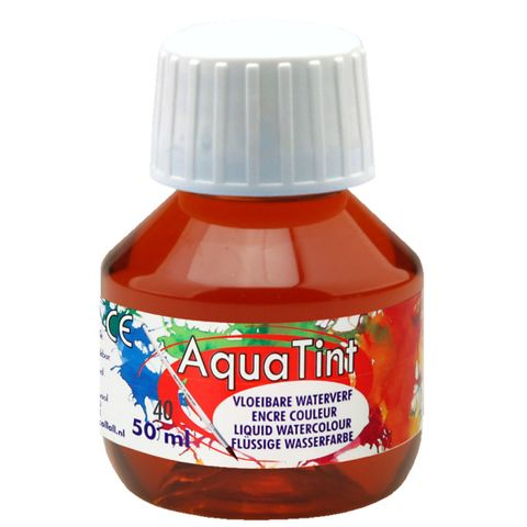 Flüssige Wasserfarbe AquaTint - braun, 50ml Flasche – Bild 1