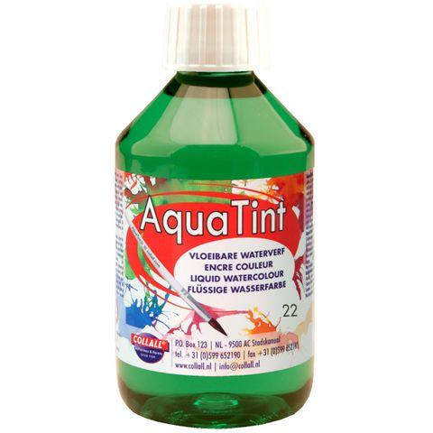 Flüssige Wasserfarbe AquaTint - Farbe dunkelgrün - 250ml Flasche – Bild 1