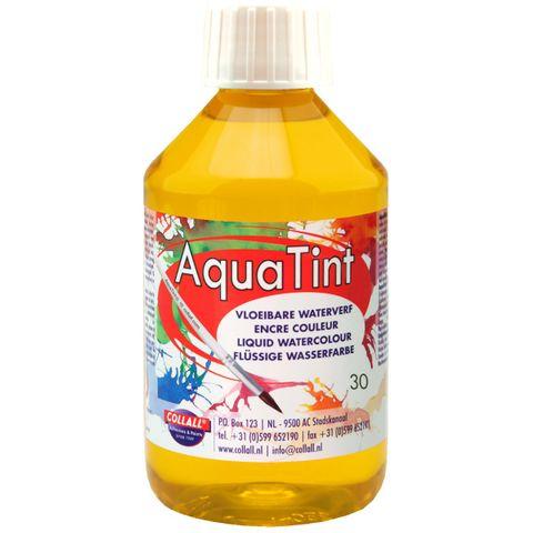 Flüssige Wasserfarbe AquaTint - Farbe gelb - 250ml Flasche – Bild 1