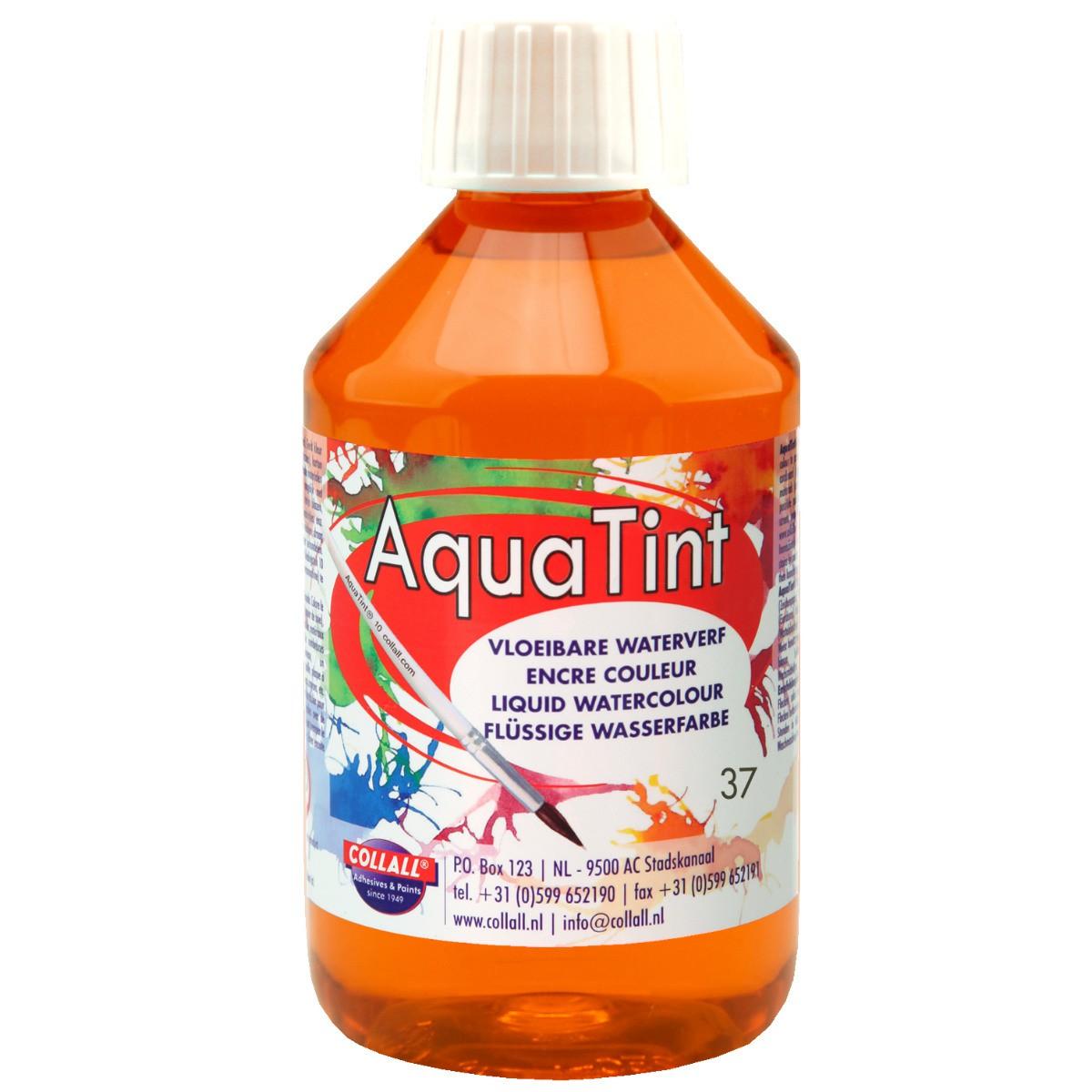 Flüssige Wasserfarbe AquaTint - Farbe orange - 250ml Flasche