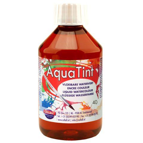 Flüssige Wasserfarbe AquaTint - Farbe braun - 250ml Flasche – Bild 1