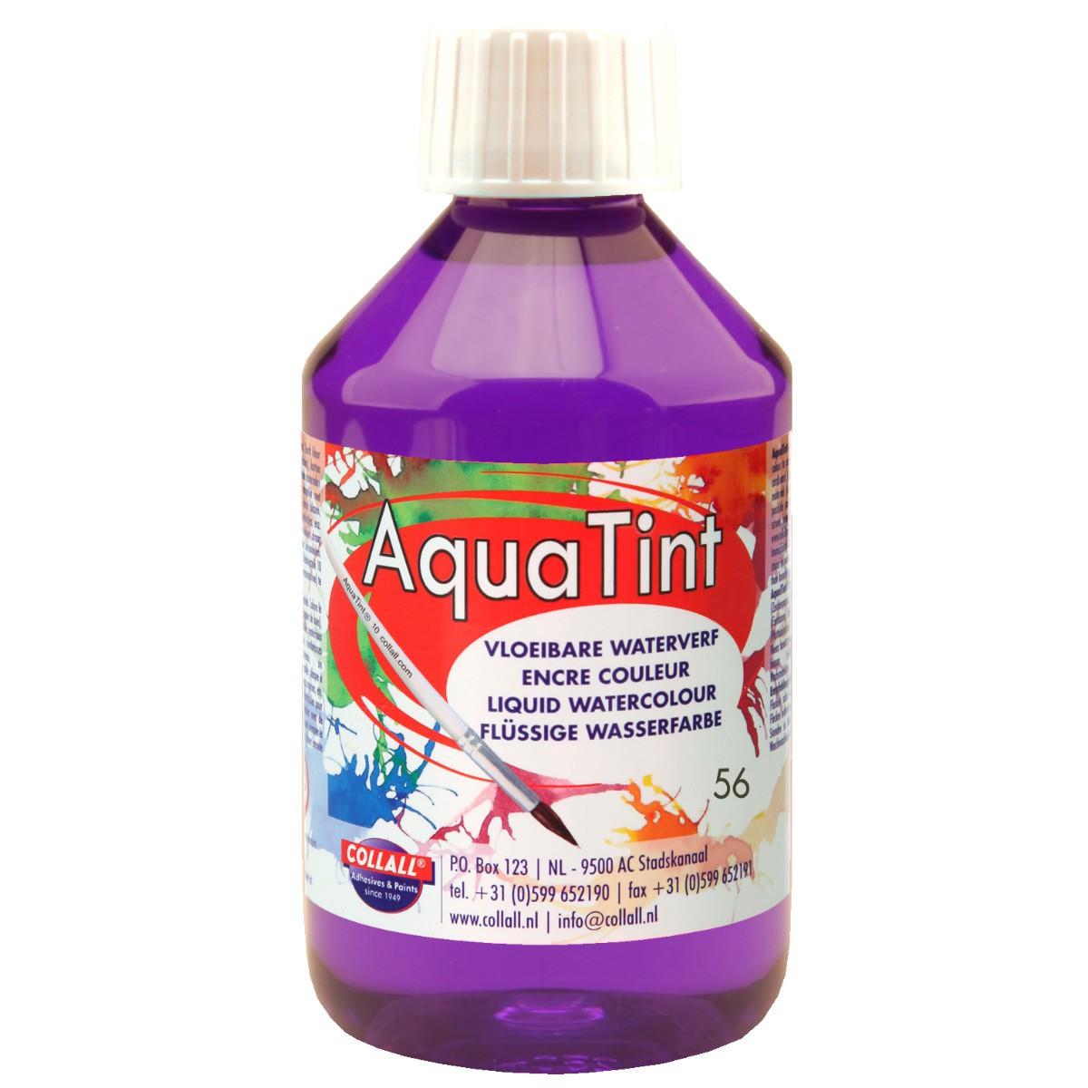 Flüssige Wasserfarbe AquaTint - Farbe violett - 250ml Flasche