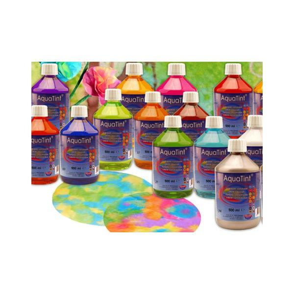 Flüssige Wasserfarbe AquaTint - Farbe gold - 250ml Flasche