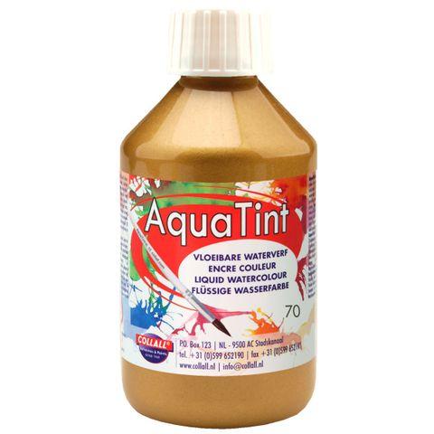 Flüssige Wasserfarbe AquaTint - Farbe gold - 250ml Flasche – Bild 1